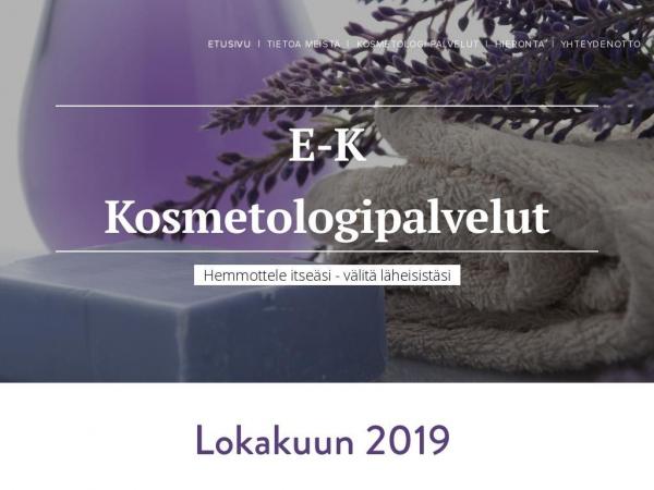 e-k-kosmetologipalvelut.fi